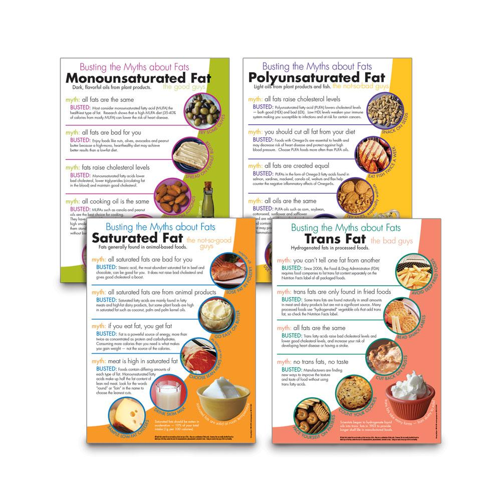 Myth Busters: Set of Four Fats Posters