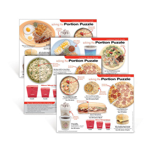 Portion Puzzle Poster Set of 4