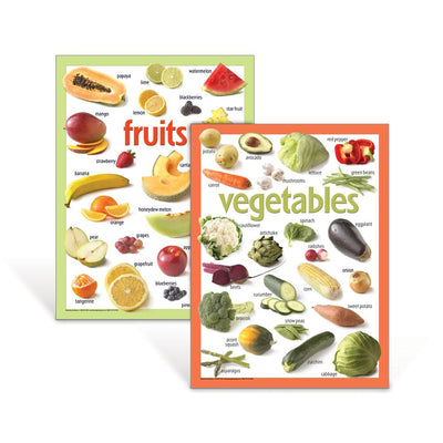 Basic Fruits and Vegetables Poster Set