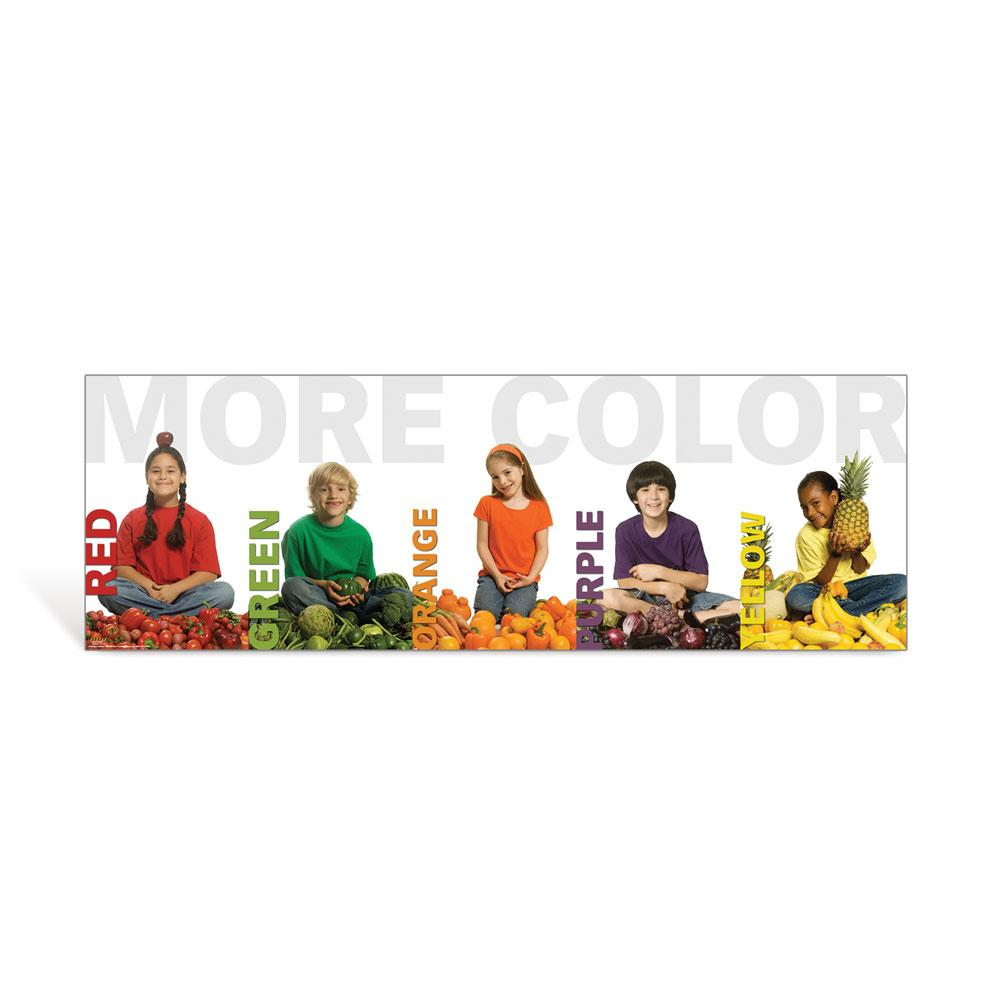 More Color Kid Banner Poster