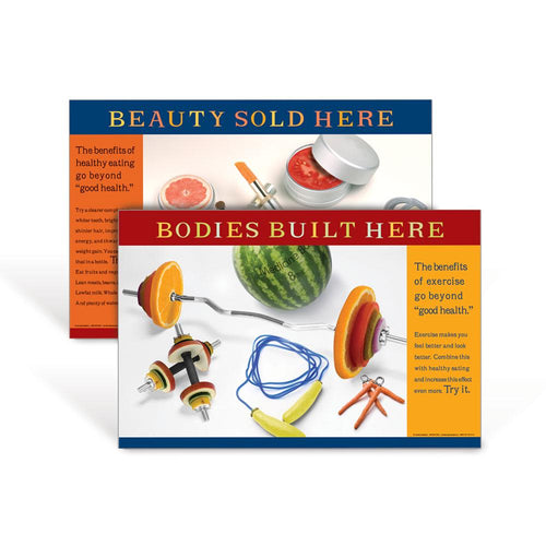 Beauty Sold Here & Bodies Built Here Poster Set