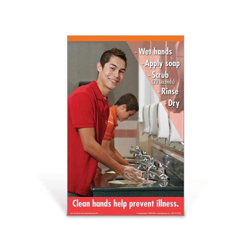 Hand Washing Teen Boy Poster