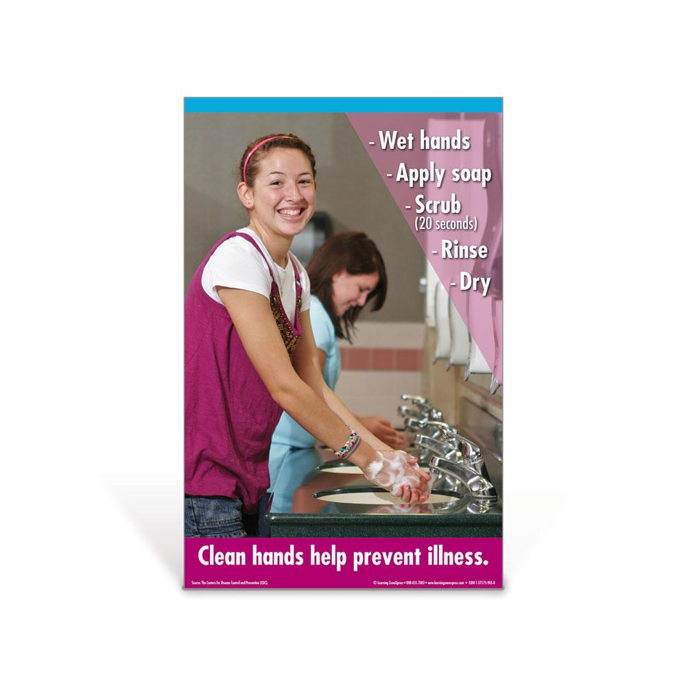 Hand Washing Teen Girl Poster