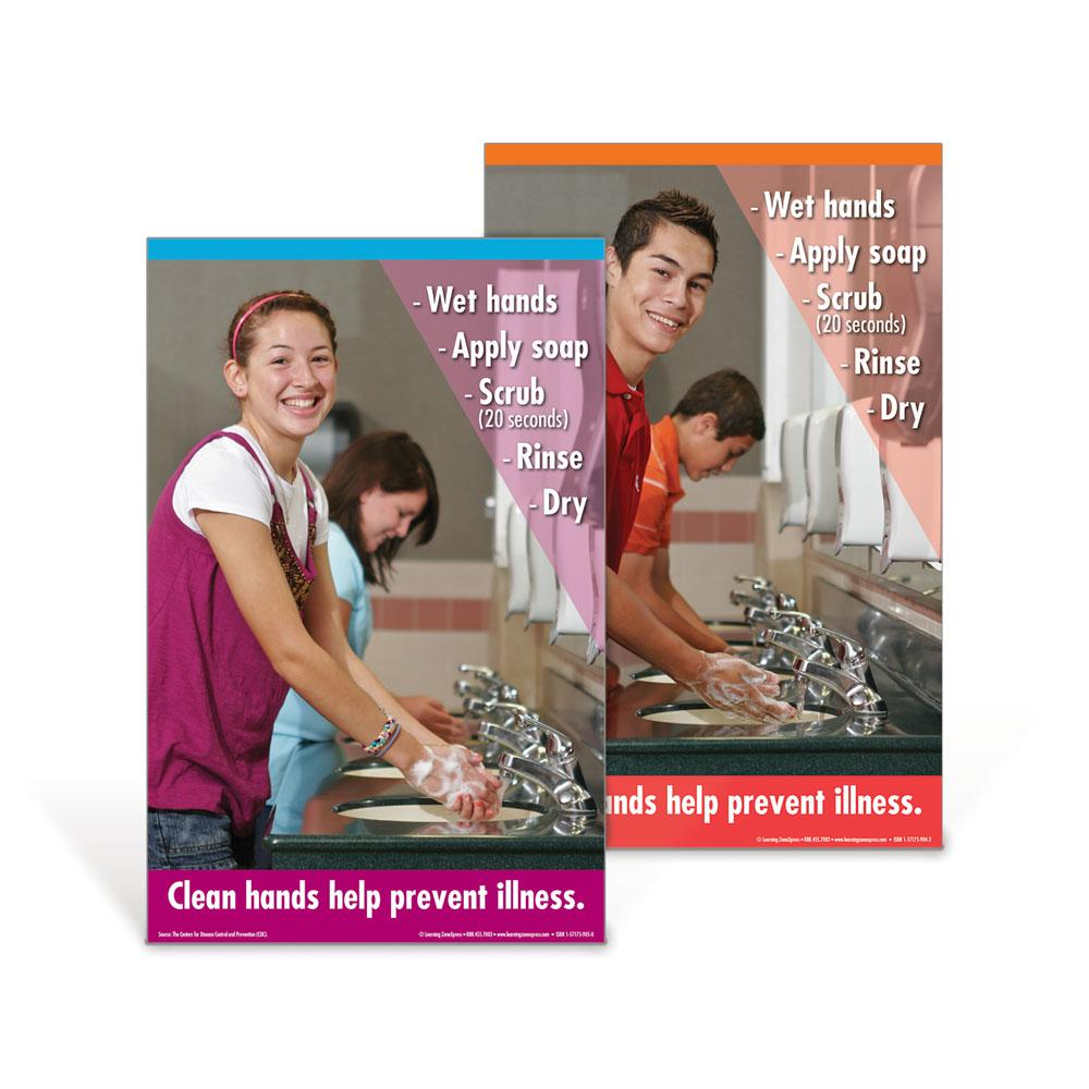 Senior High Hand Washing Poster Set