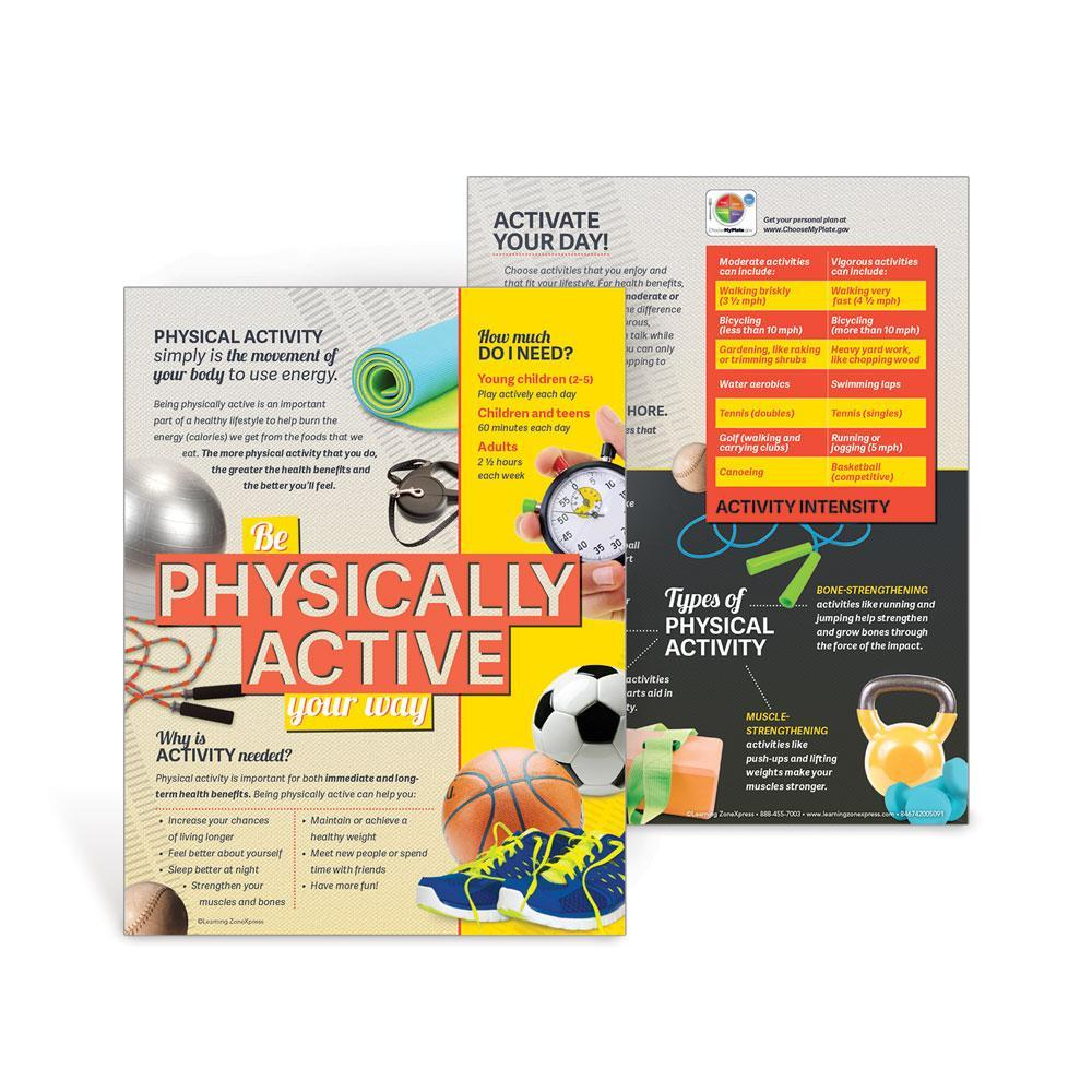 MyPlate Food Group Handouts Set | Physical Activity
