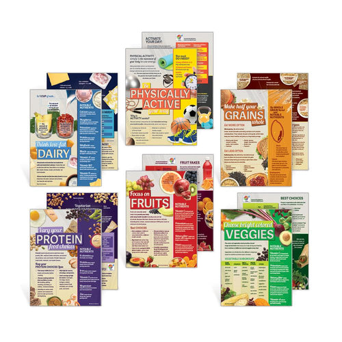 Set of 6 MyPlate Food Group Handouts