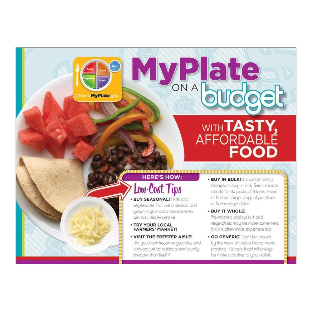MyPlate on a Budget Handouts