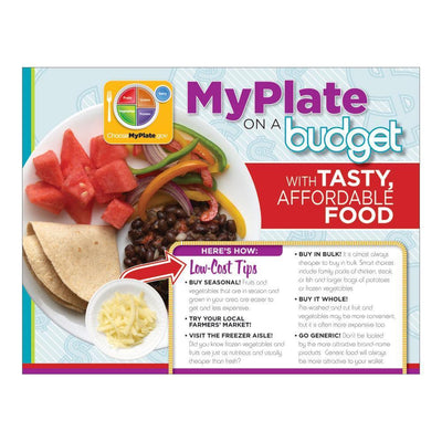 MyPlate Eating Healthy on a Budget Handout  Front