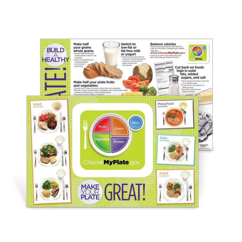 USDA MyPlate Placemat Handouts