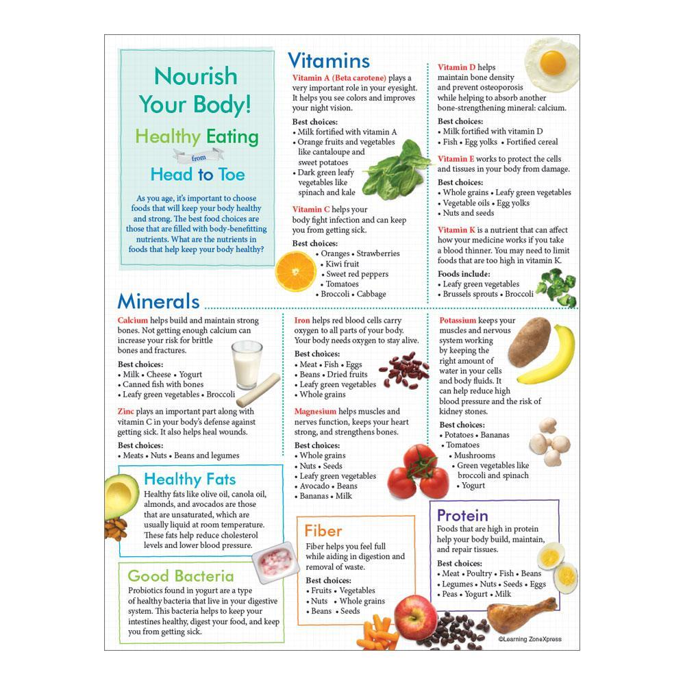 Older Adult Healthy Eating from Head to Toe Handouts