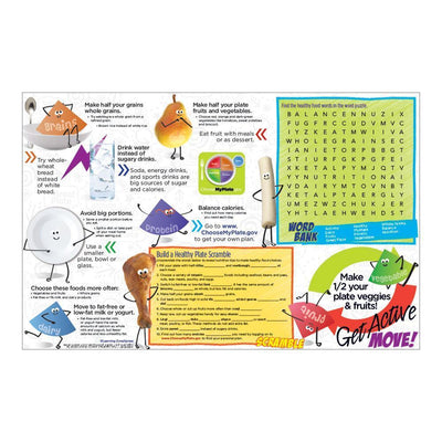 Kids 1 Great Plate® Game Board Handouts