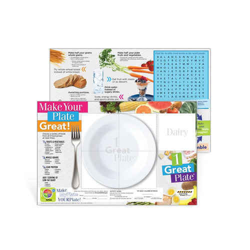 1 Great Plate® Game Board Handouts