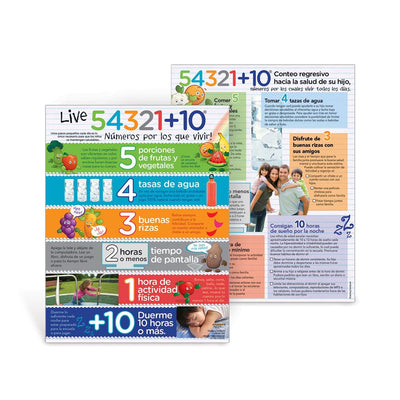 Live 54321+10 for Kids Spanish Handouts