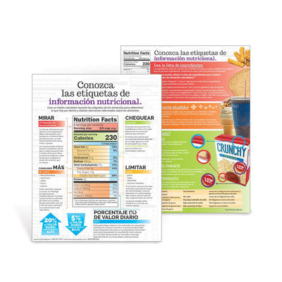 Get to Know Nutrition Facts Labels Spanish Handouts