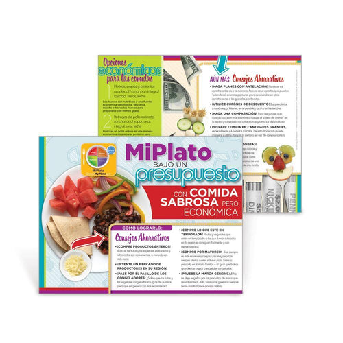 MyPlate Eating Healthy on a Budget - Spanish Handout