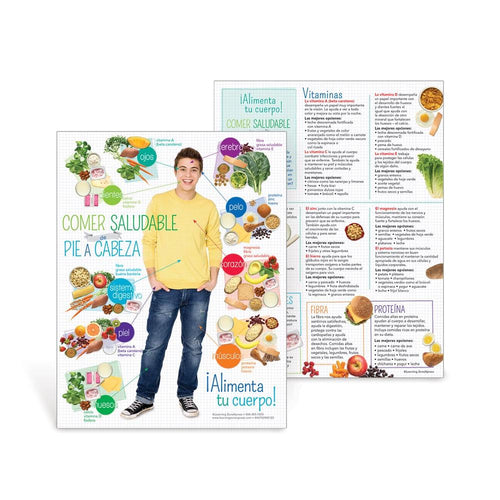 Teen Healthy Eating from Head to Toe Spanish Handouts