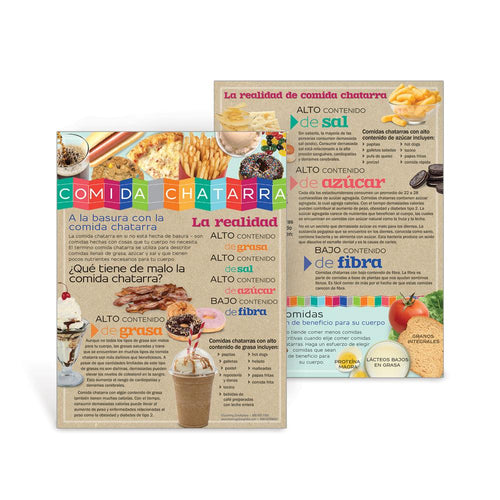 Junk Food Facts Spanish Handouts