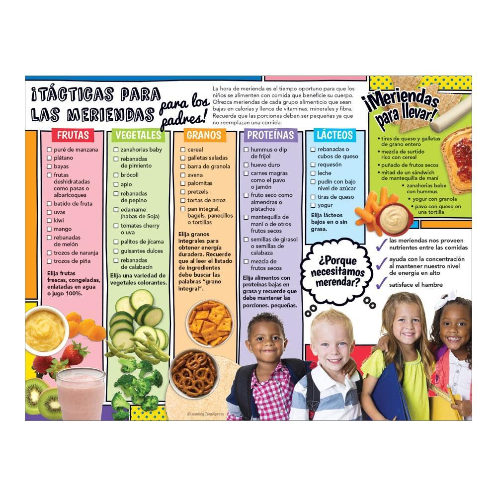 USDA MyPlate Healthy Snack Ideas Classroom Handouts: Snack Strategies Spanish Handouts