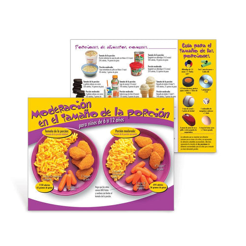 Portion Size Wise Spanish Handouts Ages 6-12