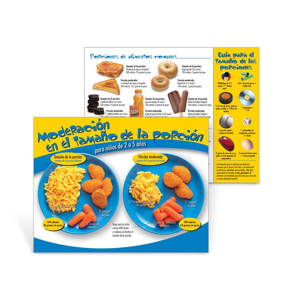 Portion Size Wise Spanish Handouts Ages 2-5