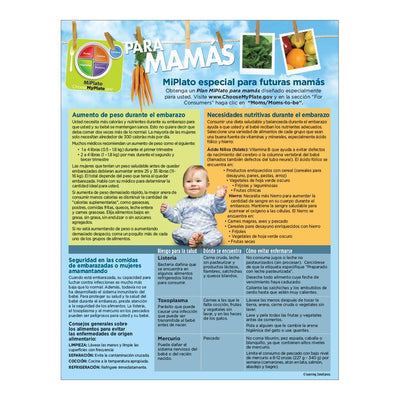MyPlate for Expecting Moms - Spanish Handout Back