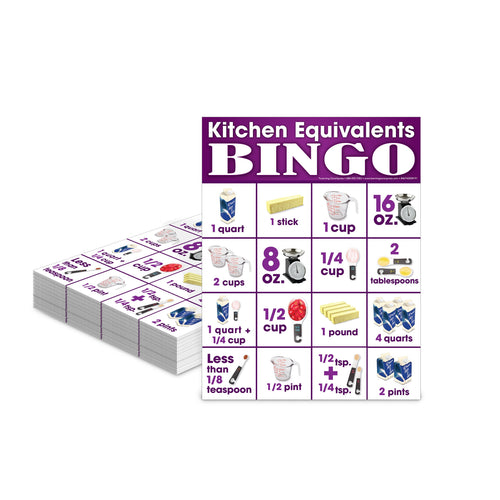 Kitchen Equivalents Bingo