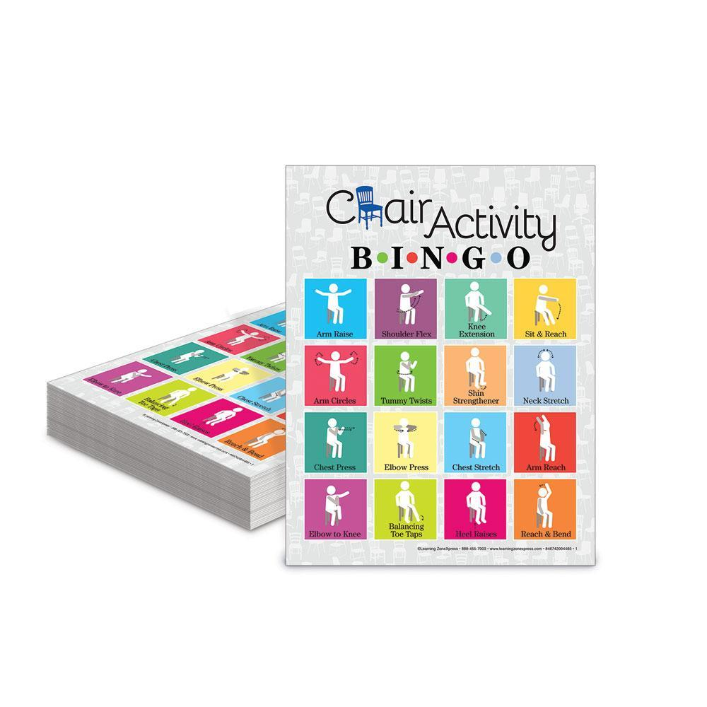 Chair Activity Bingo Game Cards