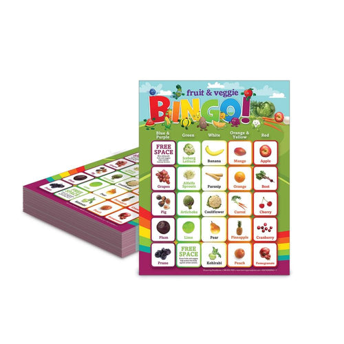 Fruit & Vegetables Bingo Game Cards