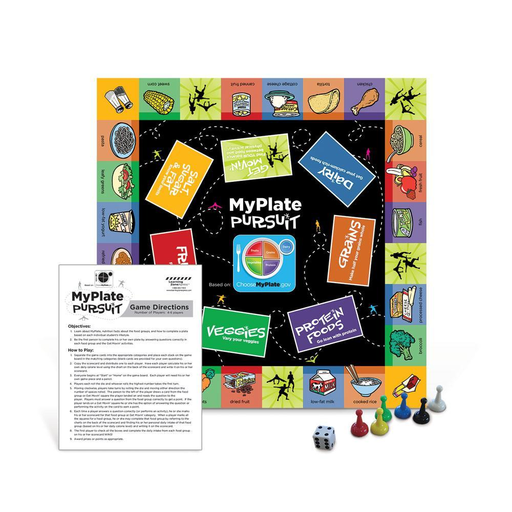 MyPlate Pursuit Board Game