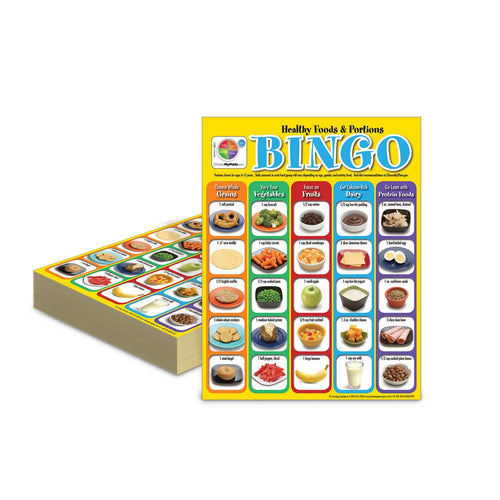 Healthy Foods & Portions for Elementary Bingo