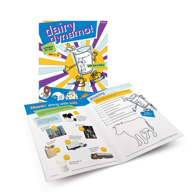Dairy-Dynamo! Activity Book for Kids 7 - 11