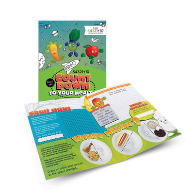 Live 54321+10® Fruits and Vegetables Activity Books