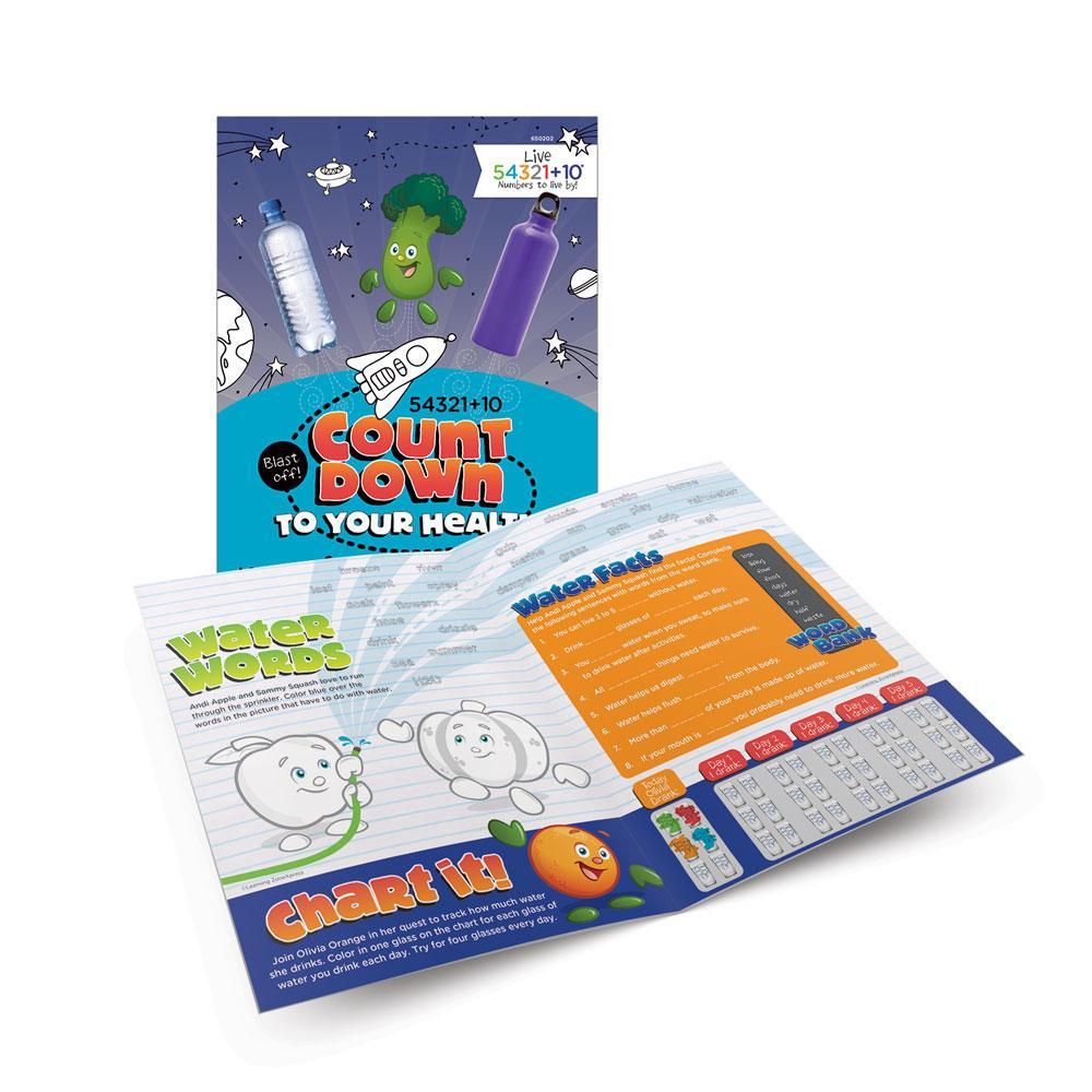 Live 54321+10® Water Activity Books