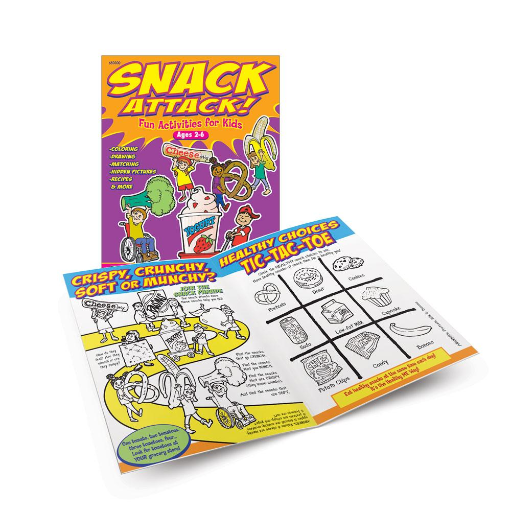 Snack Attack Activity Books (Ages 2-6)