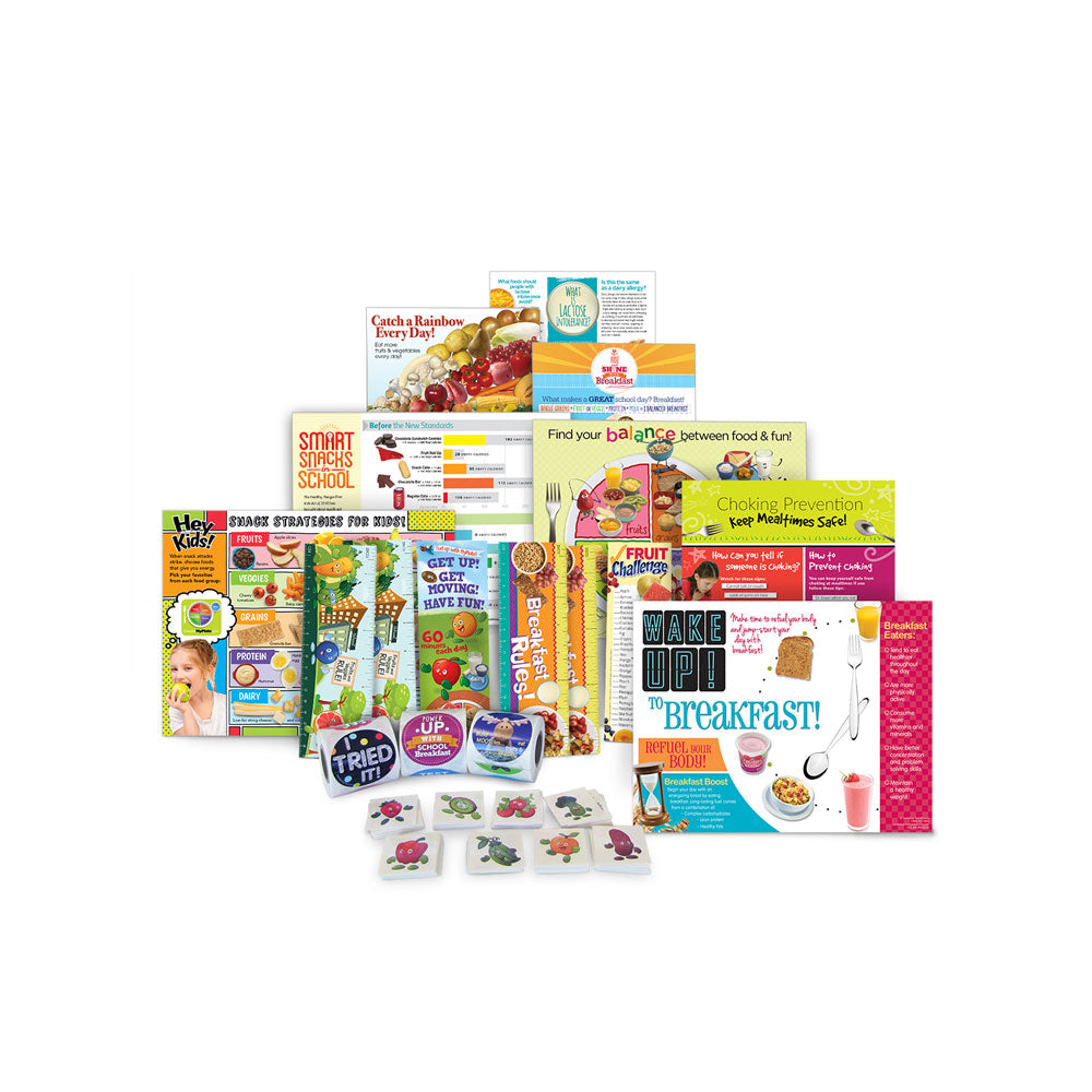 School Nutrition Health Fair Kit Supply Refill Package