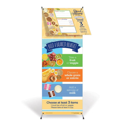 Breakfast Vinyl Banner with Stand and Dry Erase Menu Board