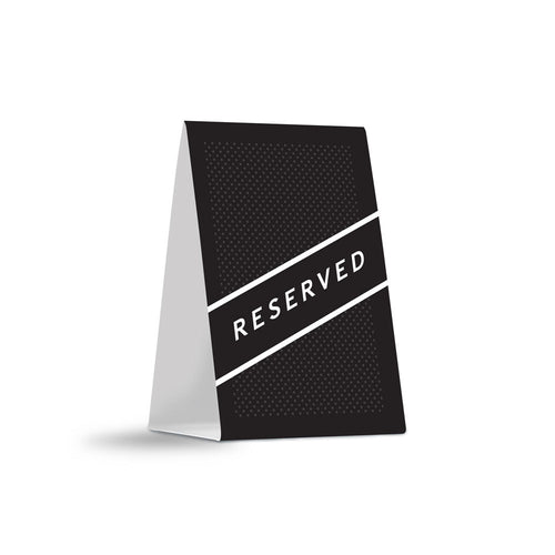 Reserved Table Tents