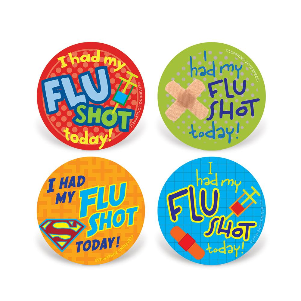 Flu Shot Stickers