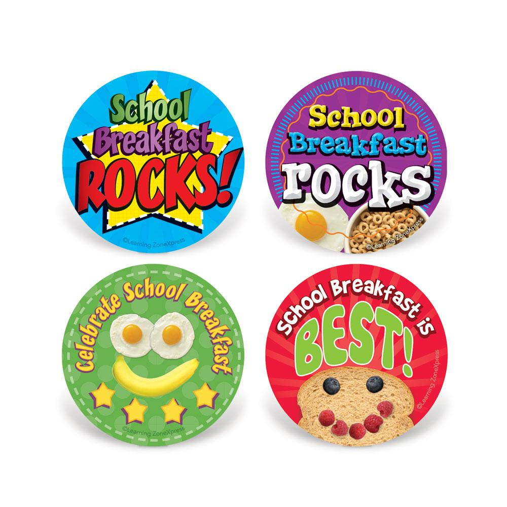 Celebrate School Breakfast Stickers