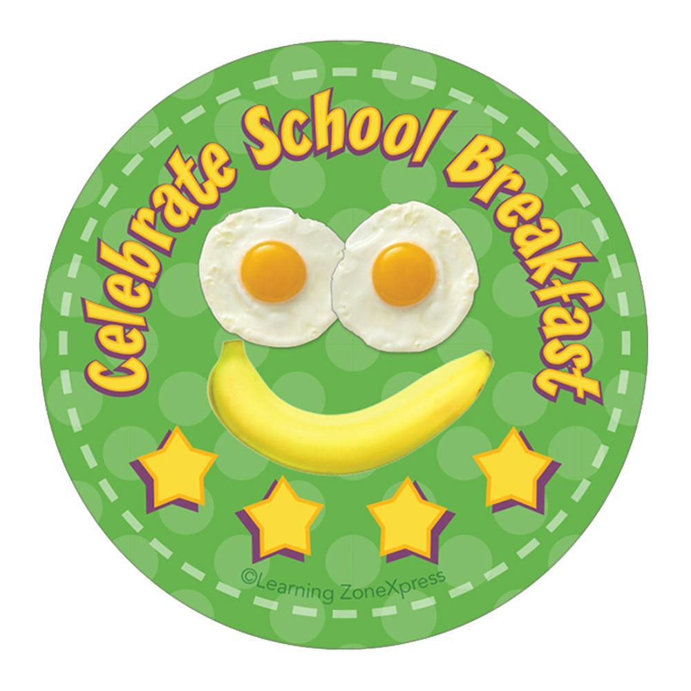 Celebrate School Breakfast Sticker