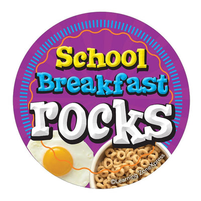 School Breakfast Rocks Sticker