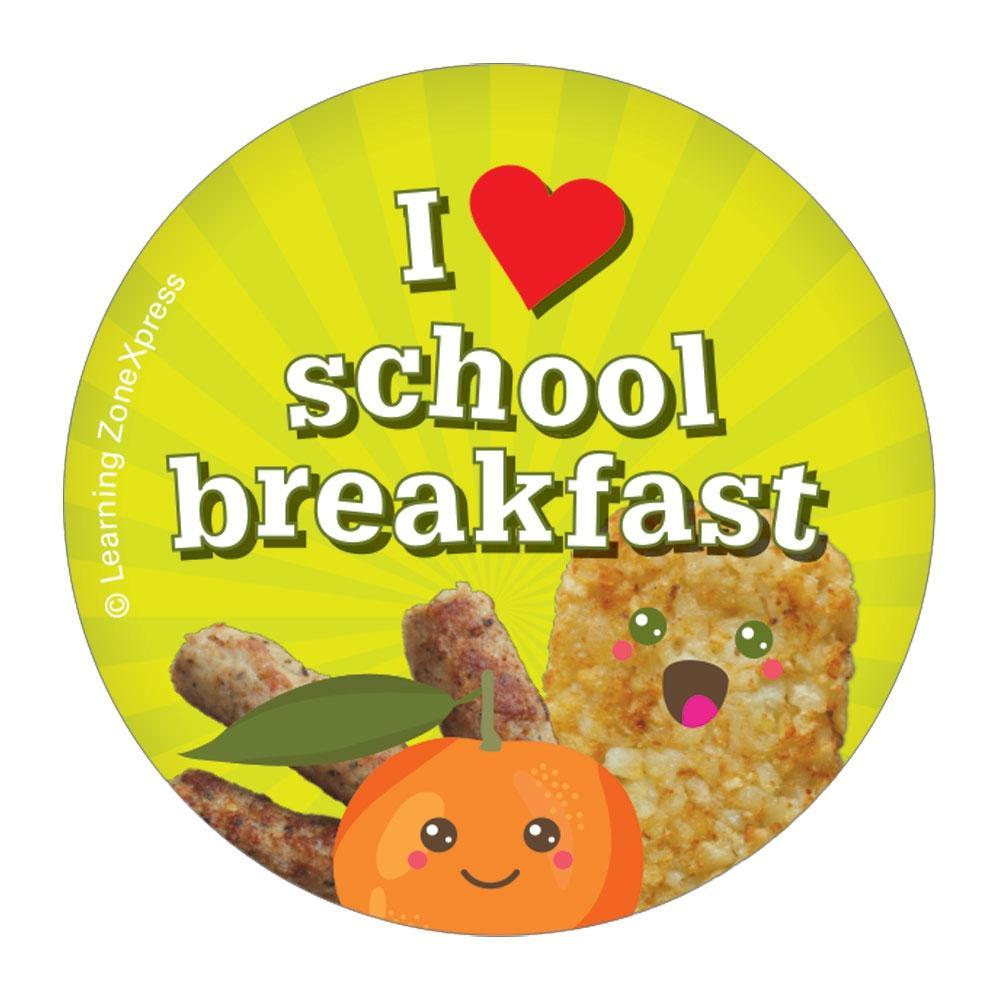 I heart School Breakfast Stickers