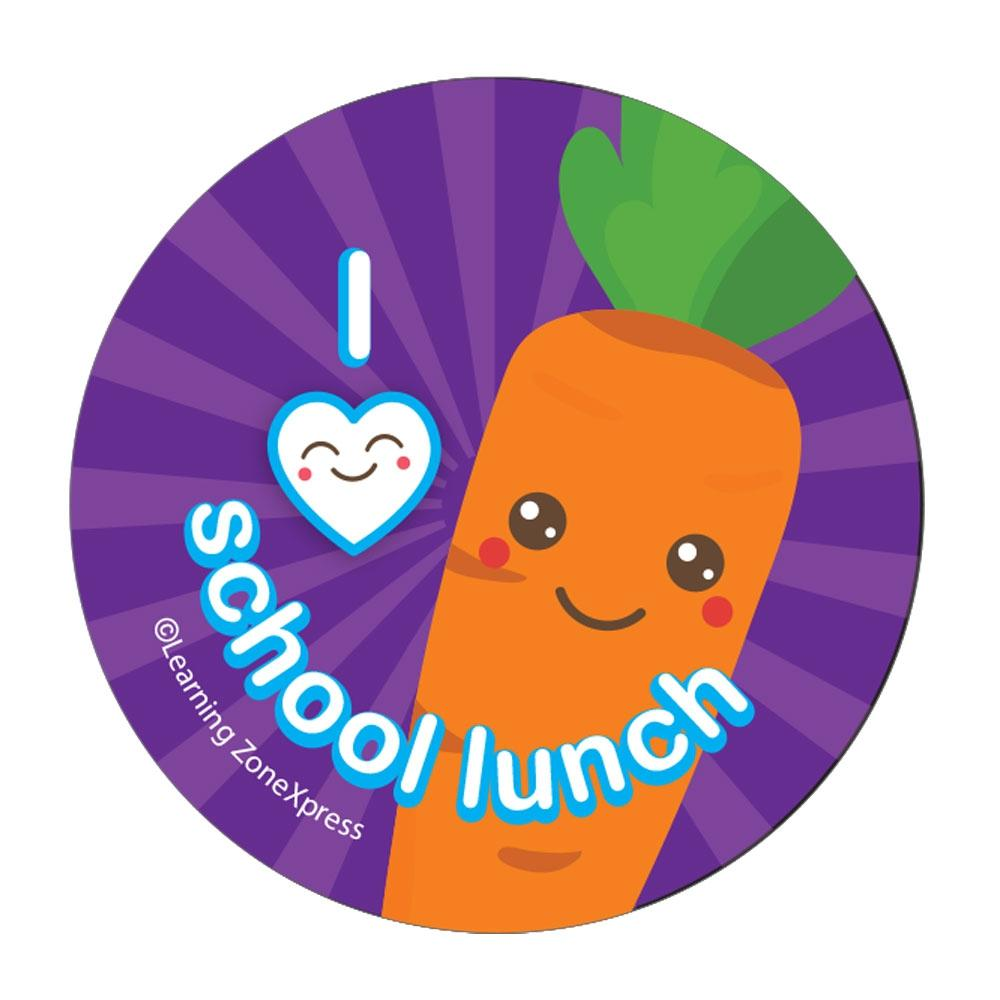 I Heart School Lunch Stickers