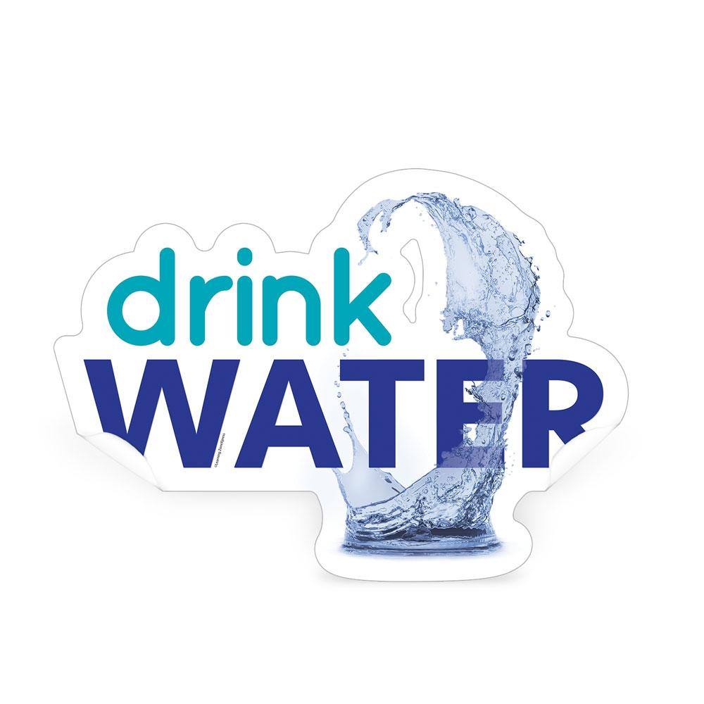 Drink Water Die-Cut Decal