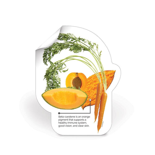 Orange Fruit and Veggie Color Die-Cut Decal