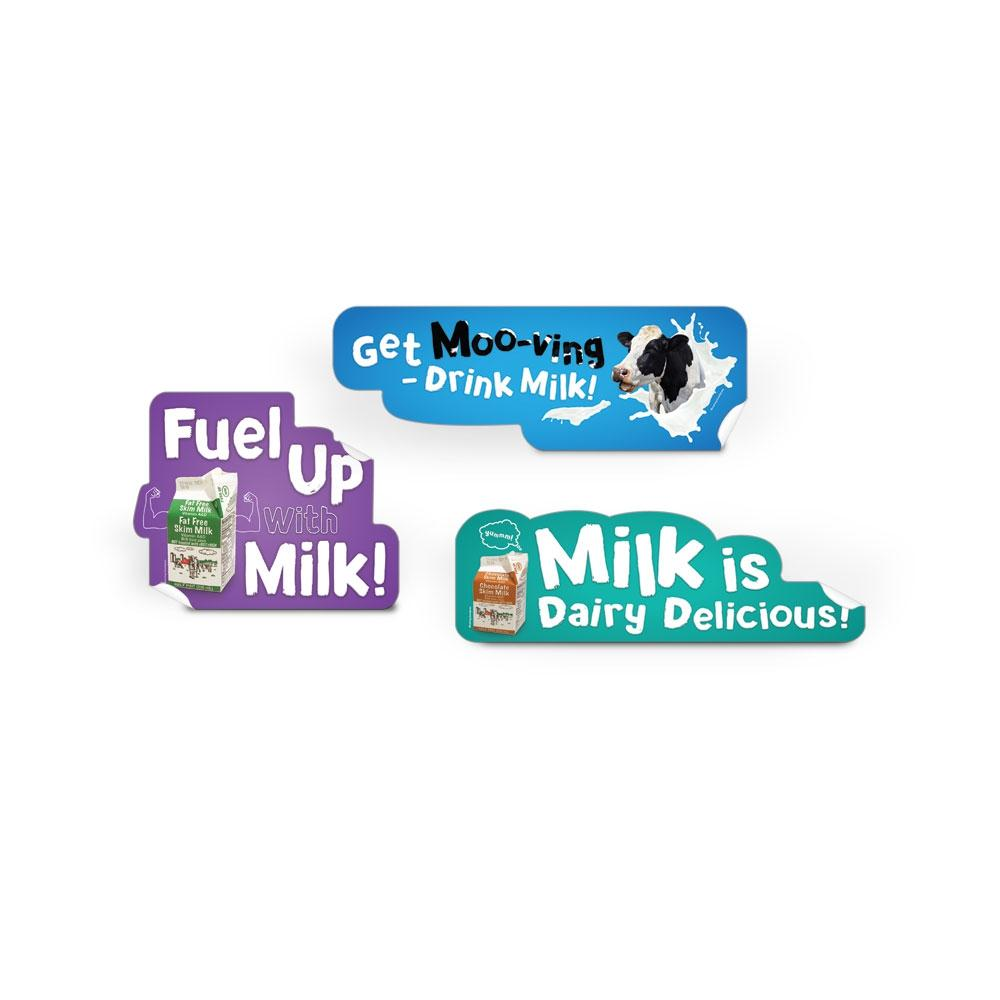 Dairy Die-Cut Decal Set