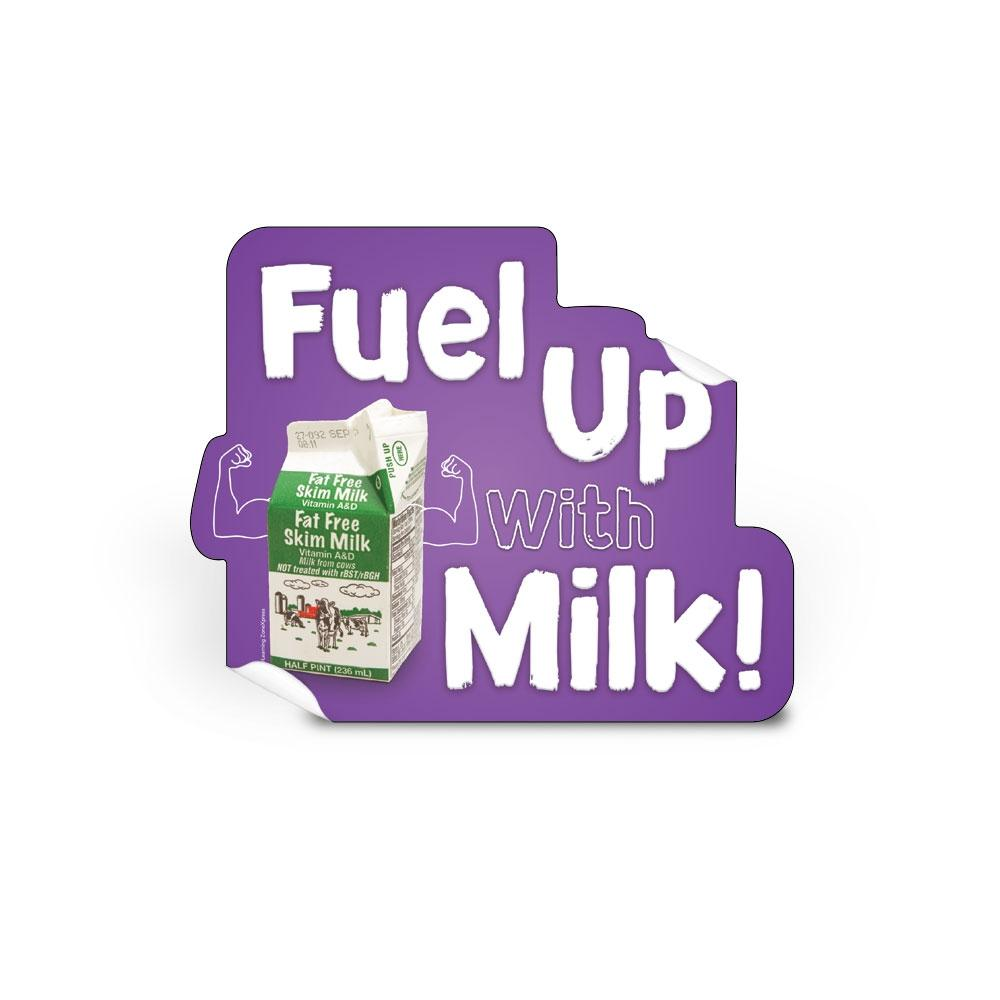 Fuel Up With Milk Die-Cut Decal