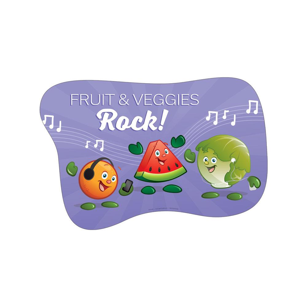Garden Heroes® Fruit & Veggies Rock Floor Decal