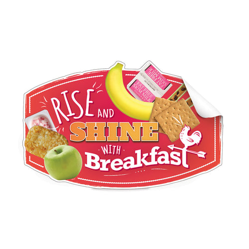 Rise & Shine with Breakfast Die-Cut Decal
