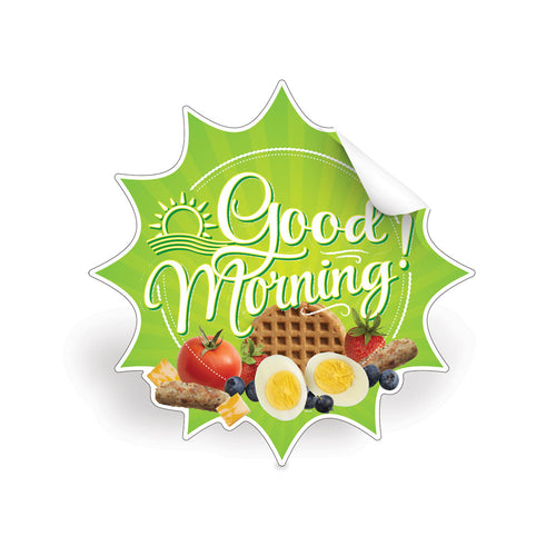Good Morning! Breakfast Die-Cut Decal